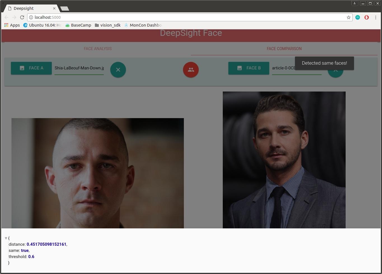 Face Comparison Page